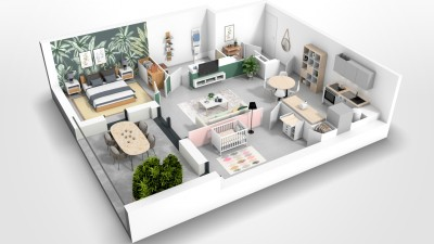 Appartement 3 Pièces 57m² (T3) Maurin (Couronne Sud)