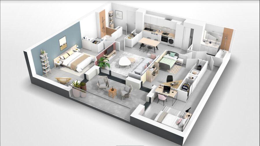 Image Appartement 4 Pièces 88m² (T4) Maurin (Couronne Sud)