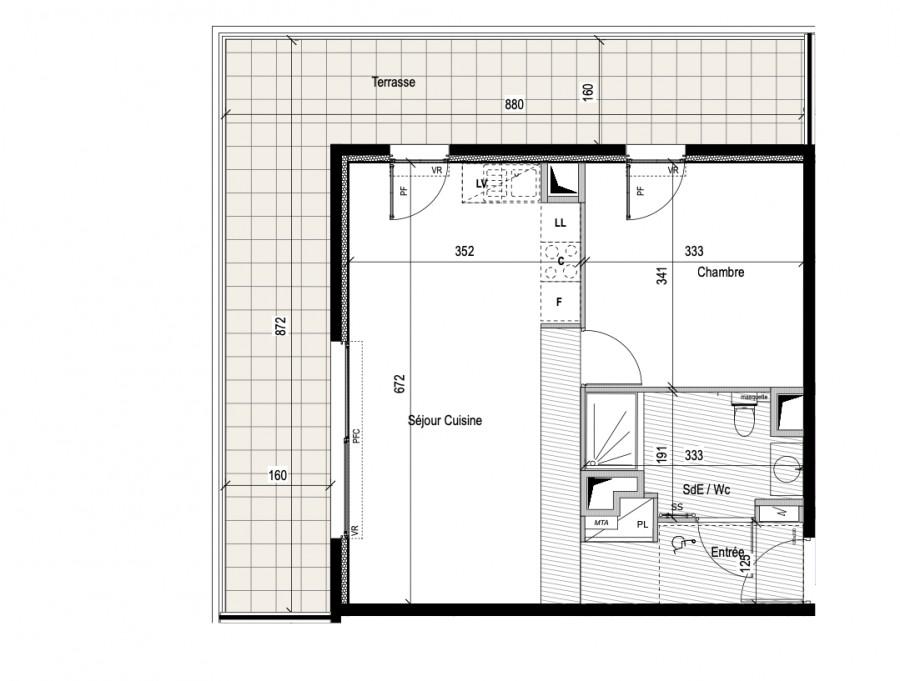 Image Appartement 2 Pièces 44m² (T2) Castelnau-le-Lez (Couronne Est)